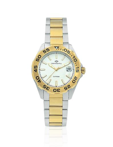Continental Men's Classic Silver Dial Bicolor (Yellow Gold / Steel) Metal Watch 20501-GD312130