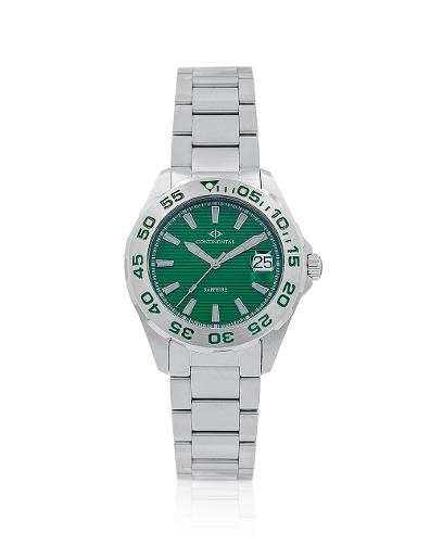 Continental Men's Classic Green Dial Steel Metal Watch 20501-GD101950