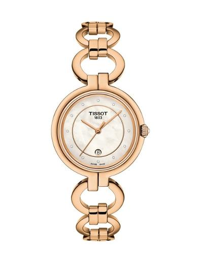Tissot  Women's trend WHITE MOTHER OF PEARL Dial Rose Gold Stainless steel Watch.  T094.210.33.116.01