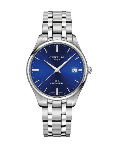 Certina Men's DS-8 Blue Dial Silver Stainless Steel Watch. C033.451.11.041.00