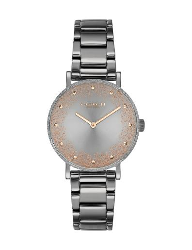 Coach Women's PERRY GREY Dial Grey Stainless Steel Watch. 14503640