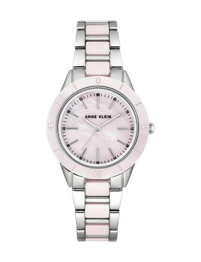 Anne Klein Women's Trend Purple Dial Two Tone Stainless Steel Watch. AK3161LPSV