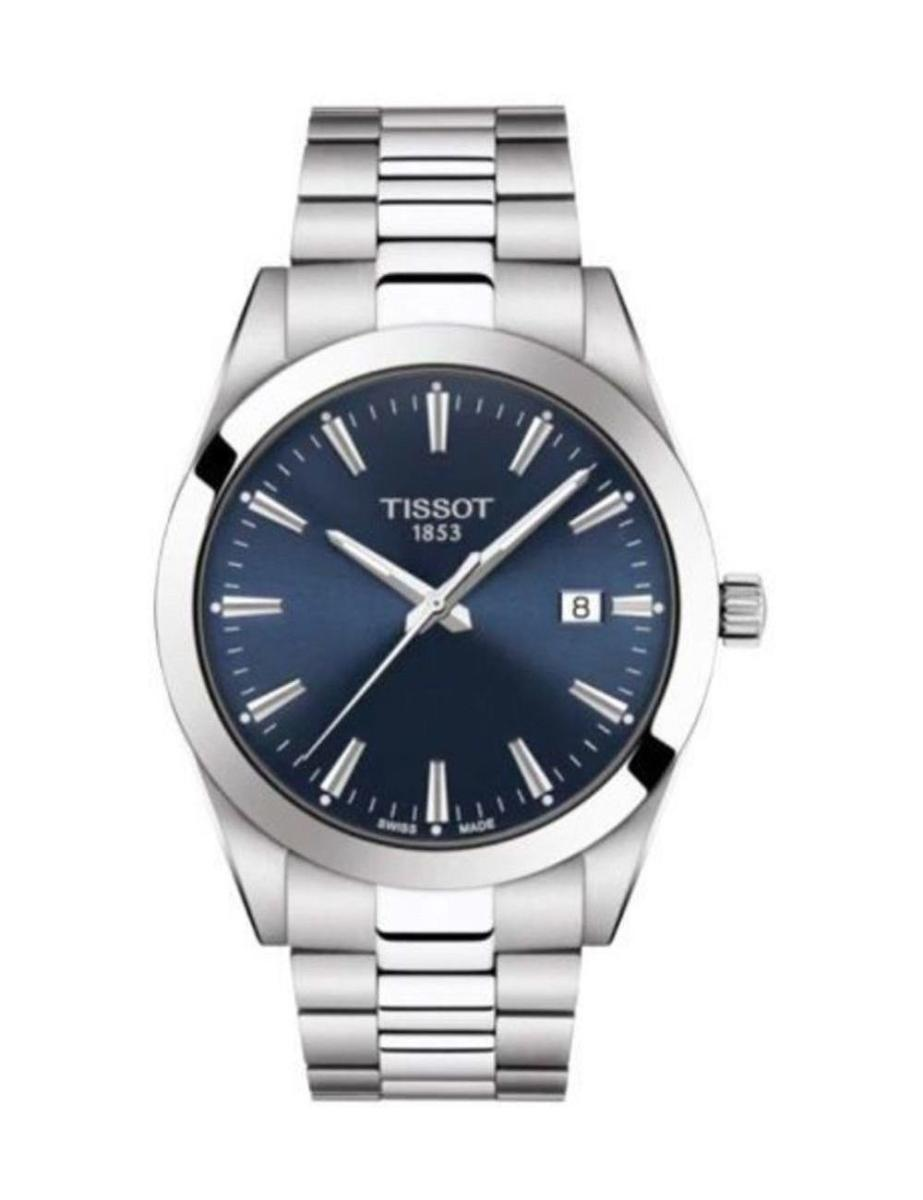 Tissot  Men's Classic BLUE Dial Grey Stainless steel Watch.  T127.410.11.041.00