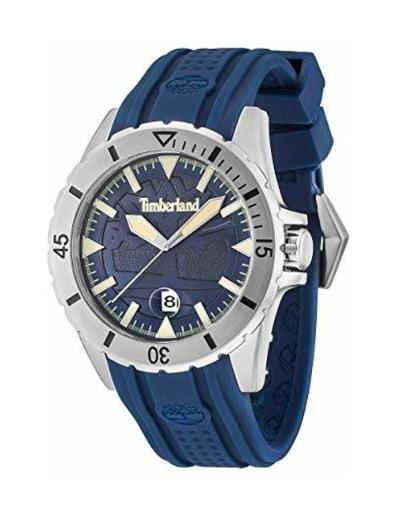Timberland Men's Boylston Blue Dial Blue Silicone Watch. TBL15024JS-03P