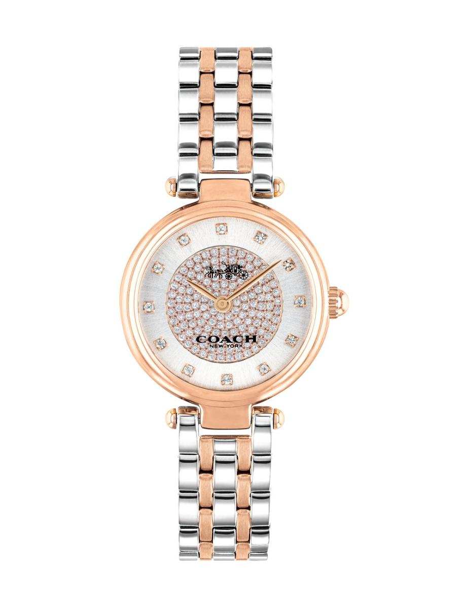 Coach  Women's PARK SILVER WHITE Dial Two Tone Stainless Steel Watch.  14503642