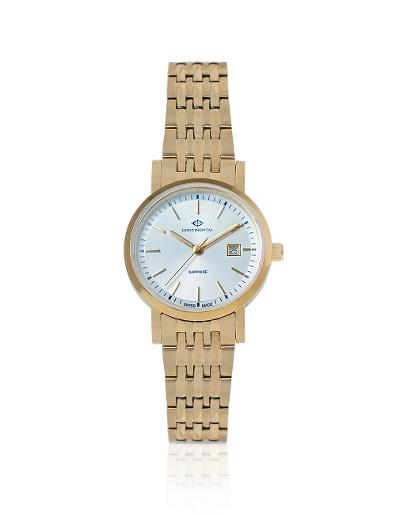 Continental Women's Classic Silver Dial Yellow Gold Metal Watch. 19101-LD202130