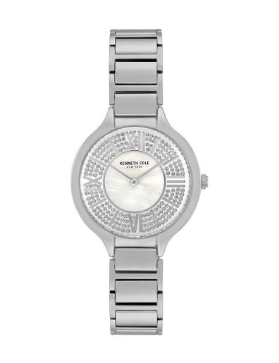 Kenneth cole Women's Classic White Dial Silver Stainless Steel Watch. KC51011001
