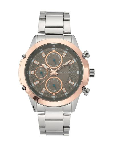 Vince Camuto Men's Chrono Grey Dial Grey Stainless Steel Watch. VC1135GYRT