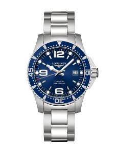 Longines  Men's HYDROCONQUEST Blue Dial  Stainless Steel Watch.  L37424966