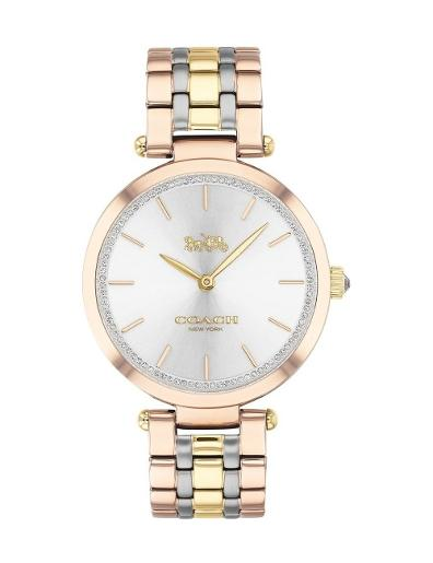 Coach Women's Park Silver Dial Two Tone Stainless Steel Watch. 14503509