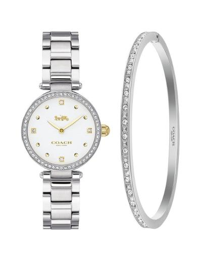 Coach Women's Park White Dial Silver Stainless Steel Watch. 14000062