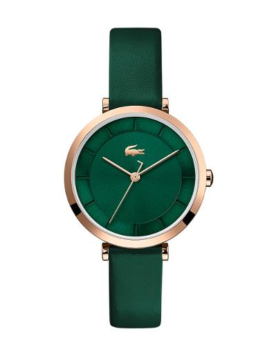 Lacoste Women's Geneva Green Dial Green Leather Watch 2001138