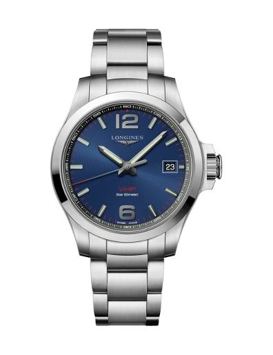 Longines Men's CONQUEST V.H.P. Blue Dial  Stainless Steel Watch. L37164966