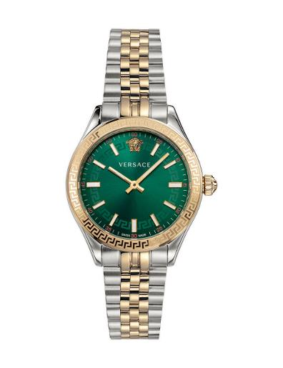 Versace Women's HELLEN.LADY Green Dial Two tone stainless steel Watch. VEHU00420