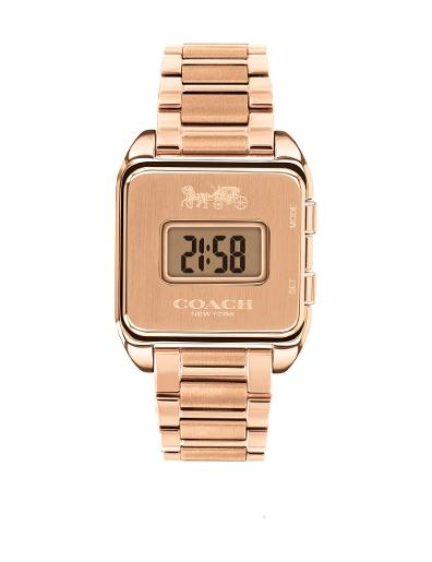 Coach Women's DARCY ROSE GOLD Dial Rose Gold Stainless Steel Watch. 14503593