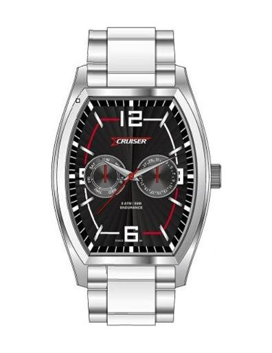 Cruiser Men's Silicon Strap Multifunction C8576-GSBB
