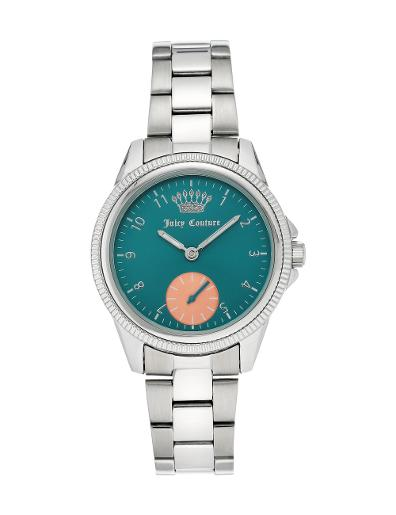 Juicy Couture Women's Metals Blue Dial Silver Metal Watch. JC1135TESV