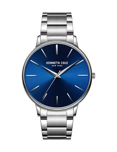 Kenneth Cole Men's Classic Blue Dial with Silver Steel Watch KC51111005