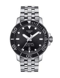 Tissot  Men Sport Stainless steel Round Black Dial Mechanical Watch  T120.407.11.051.00