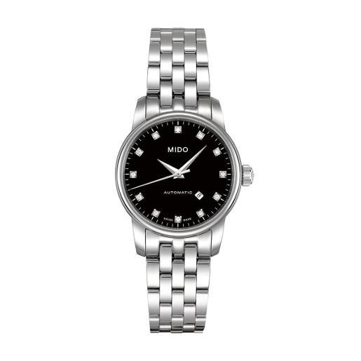 Mido Mido Classic Baroncelli Women Stainless steel Round Black Dial Automatic Watch M7600.4.68.1