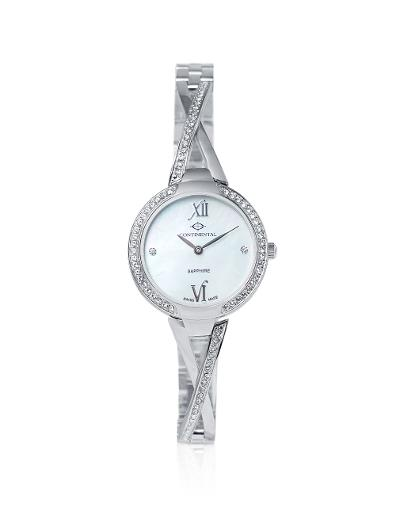 Continental Women's Classic Mother of Pearl Dial Steel Metal Watch. 16601-LT101531