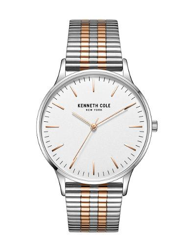 Kenneth Cole Men's Classic White Dial with Two Tone Steel Watch KC50918010