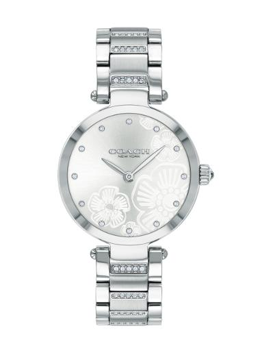 Coach Women's PARK SILVER WHITE Dial Silver Stainless Steel Watch. 14503624