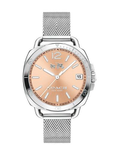 Coach Women's Tatum Rose Gold Dial Silver Stainless Steel Watch. 14502635