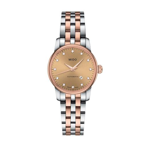 Mido Mido Classic Baroncelli Women Stainless steel Round Brown Dial Automatic Watch M7600.9.67.1