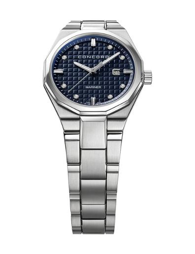 Concord Women's Mariner Blue Dial Silver Metal Watch. 320423