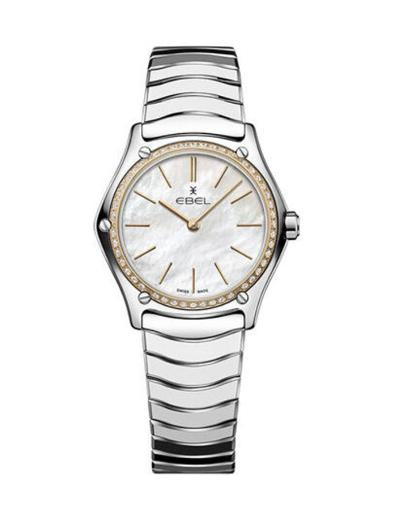 Ebel Women's Sport Classic Mother of Pearl Dial Silver Stainless Steel Watch. 1216453A