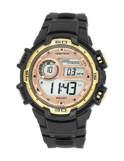 Armitron Men's Digital 408347BKGD