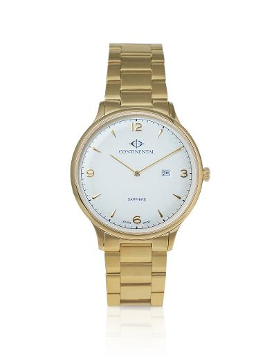 Continental Men's Classic Silver Dial Yellow Gold Metal Watch. 19604-GD202120