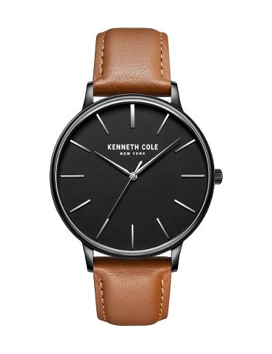 Kenneth Cole Men's Classic Black Dial with Brown Leather Watch KC51111004
