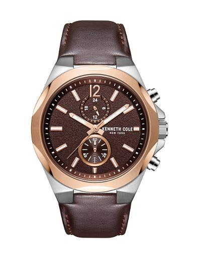Kenneth Cole Men's Dress Sport Brown Dial with Brown Leather Watch KC51088001