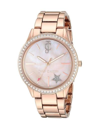 Juicy Couture Women's Trend Rose gold Dial Rose Gold Stainless Steel Watch. JC1174RGRG