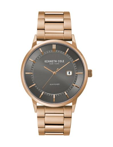 Kenneth Cole Men's Classic Grey Dial with Gold Steel Watch KC50784007