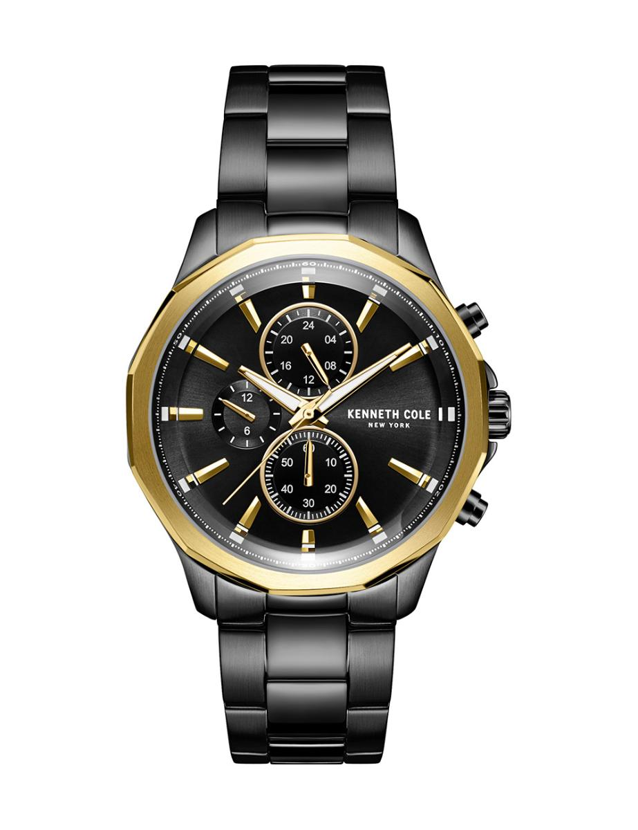 Kenneth Cole  Men's Multifunction Black Dial with Black Steel Watch  KC51109002