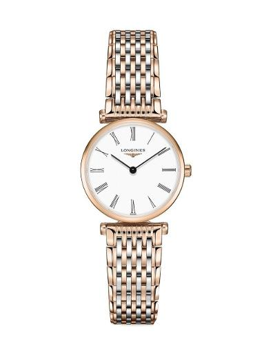 Longines Women's LA GRANDE CLASSIQUE White Dial Stainless Steel / Rose gold PVD Stainless Steel / PVD Watch. L42091917