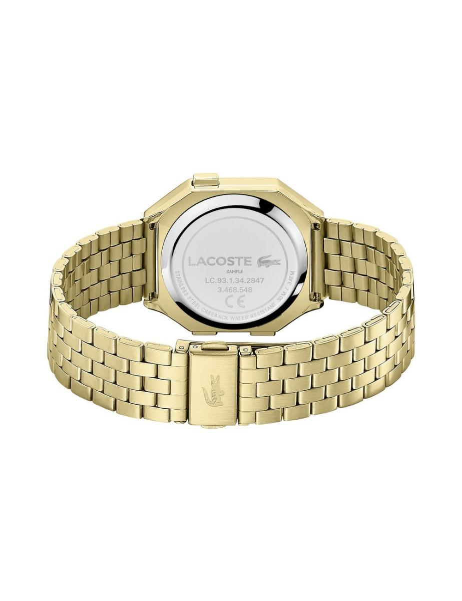Lacoste  Unisex's Berlin Gold Dial Gold Stainless Steel Watch.  2020138