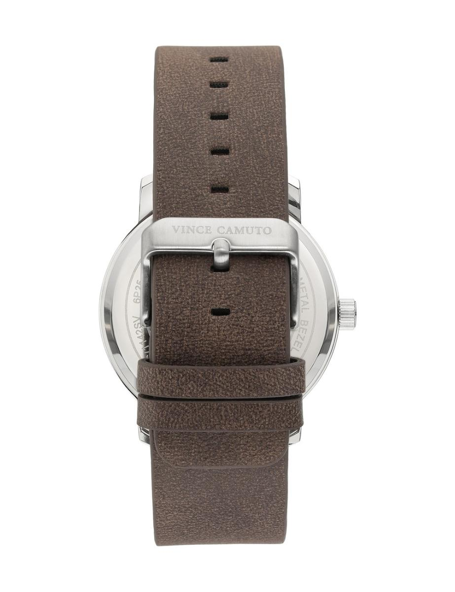 Vince Camuto  Men's Dual Function Blue Dial Brown Leather Watch.  VC1142BLSV