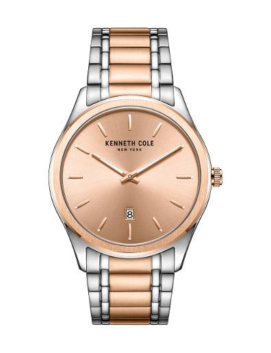 Kenneth Cole Men's Classic Rose Gold Dial with Two Tone Steel Watch KC51117003