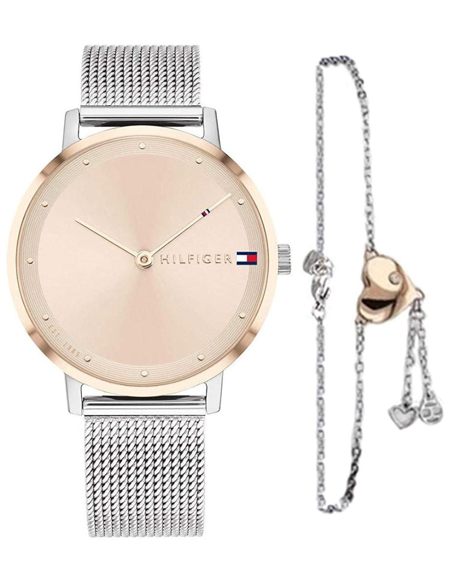 Tommy Hilfiger  Women's PIPPA White Dial Silver Stainless steel Watch.  2770053