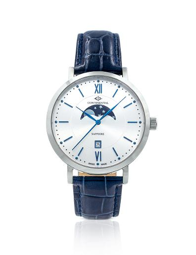 Continental Men's Classic Silver Dial Blue Leather Watch 20502-GM158110