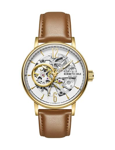 Kenneth Cole Women's Automatic White Dial with Brown Leather Watch KC51120002