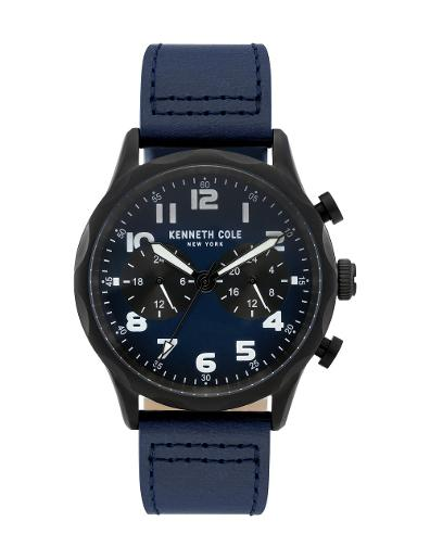 Kenneth cole Men's Sports Classic Blue Dial Blue Stainless Steel Watch. KC51026002