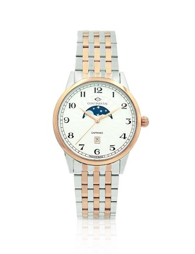 Continental Men's Classic Silver Dial Bicolor (Ros Gold / Steel) Metal Watch 20507-GM815120