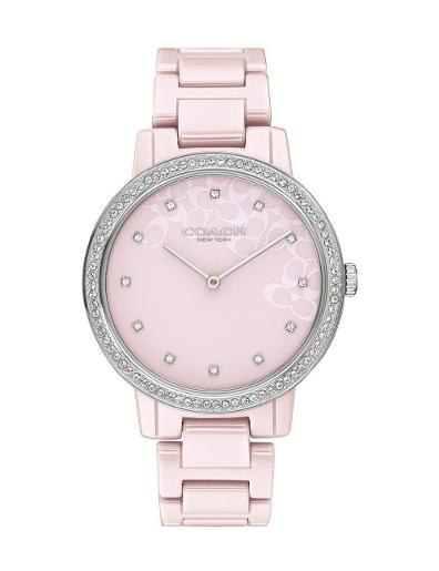 Coach Women's Audrey Pink Dial Pink Stainless Steel Watch. 14503500