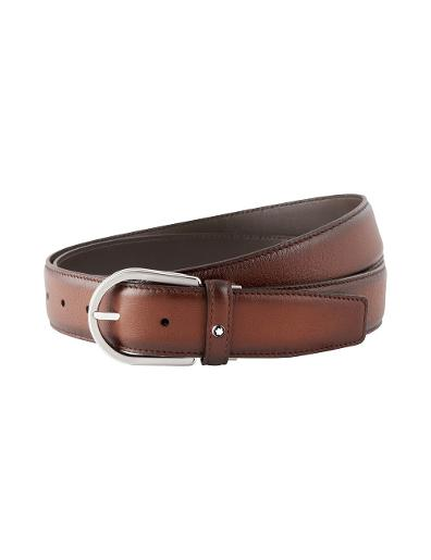 Montblanc Brown cut-to-size business belt 118413