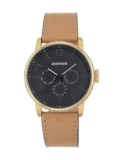 Armitron Unisex's Leather 205217BKGPTN